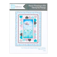 "QT Fabrics Fancy Flamingos Quilt Kit 53"" x 71"" Multi"