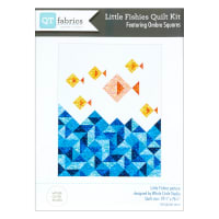 "QT Fabrics Digital Ombre Squares Little Fishies Qlt Kit 59.5"" x 76.25"""