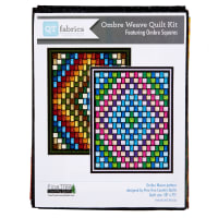 "QT Fabrics Ombre Squares Ombre Weave Quilt Kit 58""x75"" Earth"