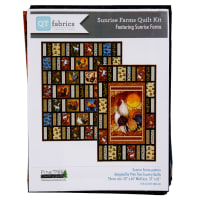"QT Fabrics Sunrise Farms Rooster Panel Quilt Kit 37""x61"""