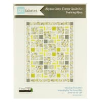 "QT Fabrics Alyssa 66"" x 83"" Quilt Kit Gray/Yellow"