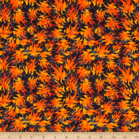 QT Fabrics Easy Rider Flames Black