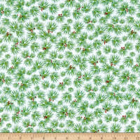 QT Fabrics First Frost Pine White