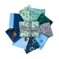 QT Fabrics First Frost Deer Fat Quarter Bundle 9 pc Blue