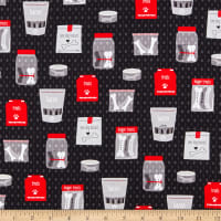 QT Fabrics Digital Hot Diggity Dogs Dog Treats Black