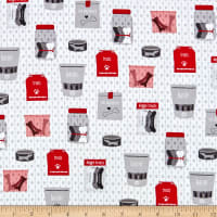 QT Fabrics Digital Hot Diggity Dogs Dog Treats White