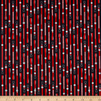 QT Fabrics Digital Hot Diggity Dogs Dog Leash Stripe Black