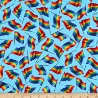 QT Fabrics This & That II Rainbow Gay Flags Blue