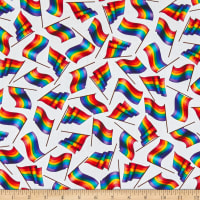 QT Fabrics This & That II Rainbow Gay Flags White