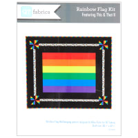 "QT Fabrics Rainbow Flag Wall Hanging 38"" x 32"" Multi"