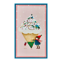 "QT Fabrics Warm Wishes Ice Cream 24"" Panel Pink"
