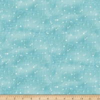 QT Fabrics Digital Warm Wishes Snow Dusty Aqua