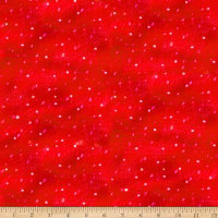 QT Fabrics Digital Warm Wishes Snow Red