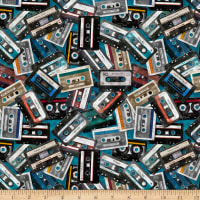 QT Fabrics Good Vibrations Cassettes Teal