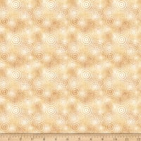 QT Fabrics Good Vibrations Sound Waves Tan