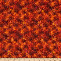 QT Fabrics Good Vibrations Sound Waves Orange