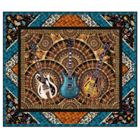 "QT Fabrics Good Vibrations Wall Quilt 56"" x 48"" Multi"