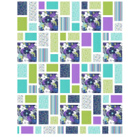 "QT Fabrics Lexi Beach Glass Quilt Kit 57"" x 71"" Blue"