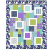 "QT Fabrics Lexi Perfect Ten Quilt Blue 60"" x 72"" Blue"