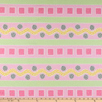 Susybee Lal the Lamb Rickrack Stripe Pink