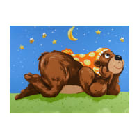 "Susybee Barron the Bear Play Mat 36"" Panel Blue"