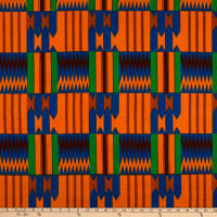 Shawn Pahwa African Print Gwedi Orange/Blue