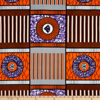 Shawn Pahwa African Print Nhalahla Orange/Purple