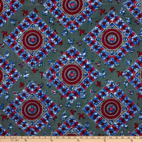 Shawn Pahwa African Print Amehlo Forest Green/Fuchsia