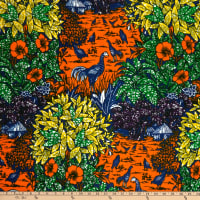 Shawn Pahwa African Ankara Print Simphiwe Orange/Green