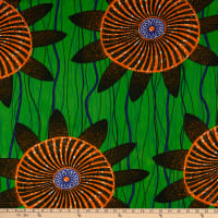Shawn Pahwa African Print Lungile Green/Orange