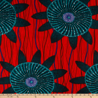 Shawn Pahwa African Print Lungile Red/Teal