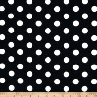 Liverpool Double Knit Large Polka Dot Black/Ivory