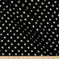 Liverpool Double Knit Polka Dot Black/Ivory