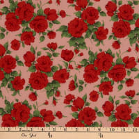 Liberty Fabrics Silk Crepe de Chine Carline Rose Red