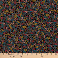 Liberty Fabrics Silk Crepe de Chine Emilia's Bloom Brown/Multi