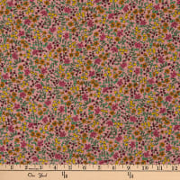 Liberty Fabrics Silk Crepe de Chine Emilia's Bloom Pink/Multi