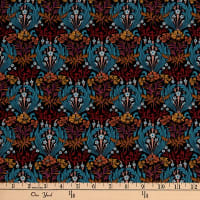 Liberty Fabrics Silk Crepe de Chine Bronwyn Black/Multi