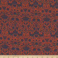 Liberty Fabrics Silk Crepe de Chine Lodden Wood Red