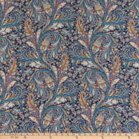 Liberty Fabrics Silk Crepe de Chine Great Missenden Blue