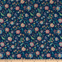 Liberty Fabrics Silk Crepe de Chine Eva Belle Blue/Green