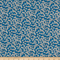 Liberty Fabrics Silk Crepe de Chine Ffion Mair Blue
