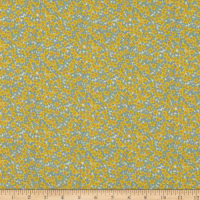 Liberty Fabrics Silk Crepe de Chine Ffion Mair Yellow