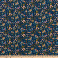 Liberty Fabrics Silk Crepe de Chine Mabelle Hall Blue