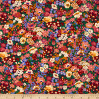 Liberty Fabrics Silk Crepe de Chine Thorpeness Pink/Multi