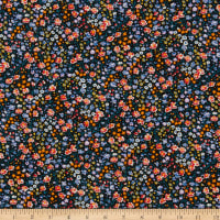 Liberty Fabrics Silk Crepe de Chine Phoebe and Jo Orange