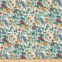 Liberty Fabrics Silk Crepe de Chine Rachel Meadow White