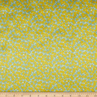 Liberty Fabrics Silk Satin Charmeuse Ffion Mair Yellow