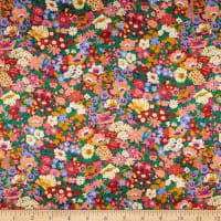 Liberty Fabrics Silk Satin Charmeuse Thorpeness Pink/Multi