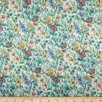 Liberty Fabrics Silk Satin Charmeuse Rachel Meadow White
