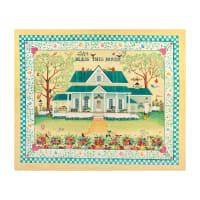 "QT Fabrics  Digital Bless This House 36"" Panel Maize"